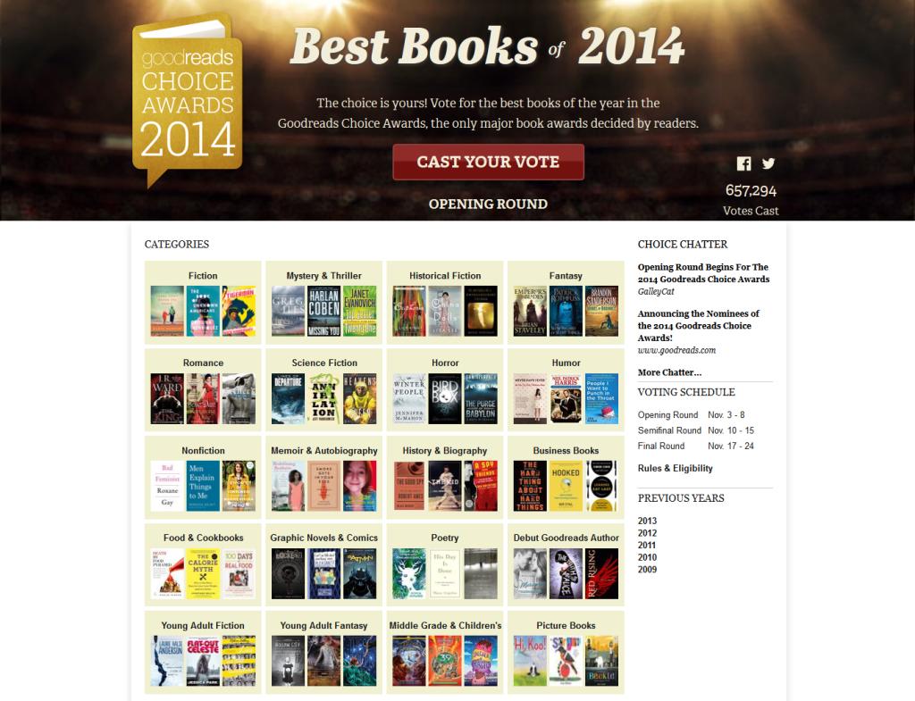 Best Books 2014 — Goodreads Choice Awards